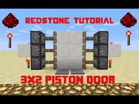 Minecraft Tutorial | How to make a redstone 3x2 Piston door WORKING 1.12!!!!
