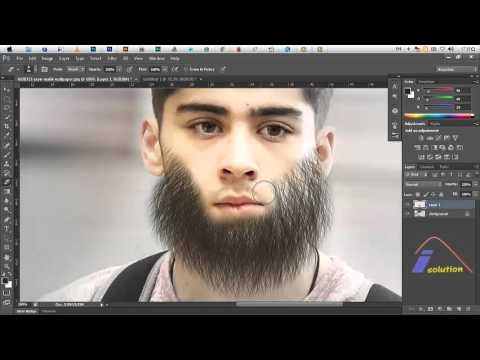 How To Make Fake Beard In Photoshop