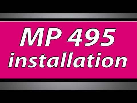 Canon Pixma MP495 printer installation