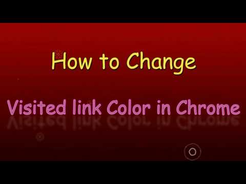 How to change visited link color in google chrome
