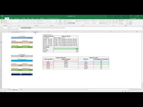 Excel - Calculating Income tax (South Africa including tax deductible expences)
