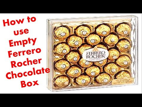 How to make Organizer from empty Ferrero rocher Chocolate Box ||Crafts from waste material