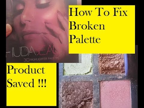 DIY: How to Fix Makeup Palette , How i fixed my HudaBeauty 3D Highlighter Palette