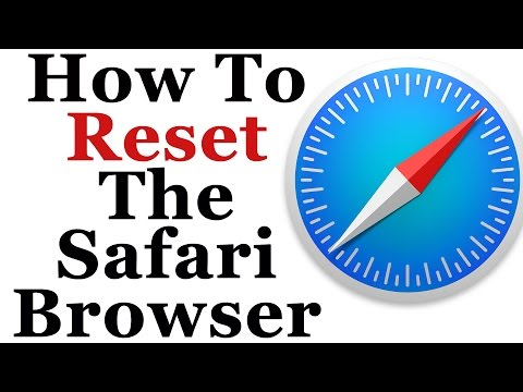 Apple Safari Tutorial - How To Reset It Back To Default Settings
