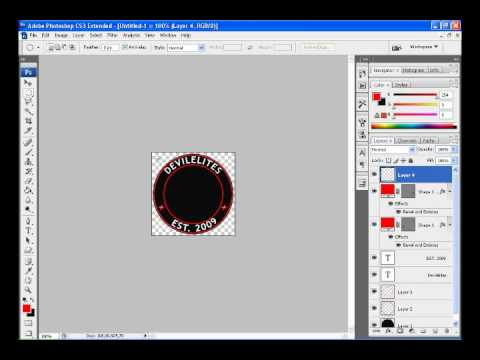 How to make a round logo in Adobe Photoshop