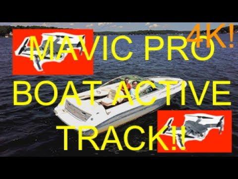 DJI Mavic Pro Active Track at NJ Lake With Boat! (4K!!)