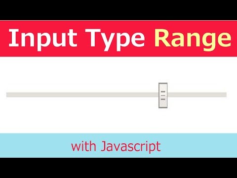 Working with input type range in javascript