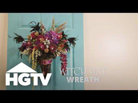 DIY Witch Hat Wreath - HGTV