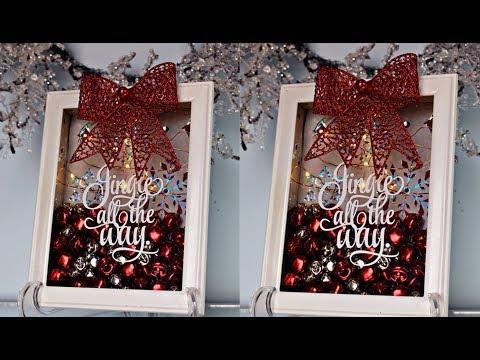 DIY | JINGLE BELL CHRISTMAS SHADOW BOX DECOR #2