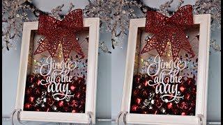 DIY   JINGLE BELL CHRISTMAS SHADOW BOX DECOR #2