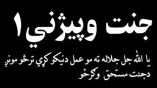 الحاج مولوي صاحب محمد ياسين فهيم پشتو شکلي بيان جنت وپيژني لمړي 1 بيان