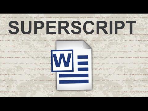 Superscript in Word - 2015