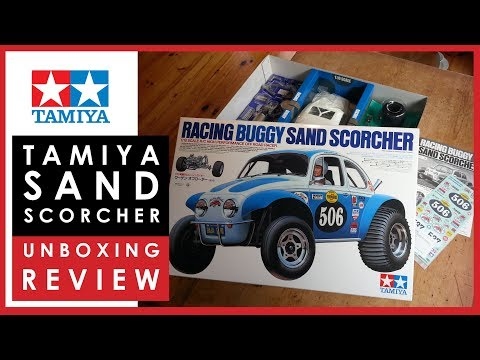 Review: Unboxing the Tamiya Sand Scorcher RC racing buggy