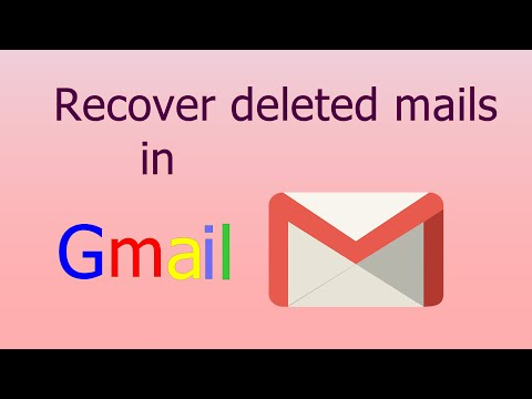 How to recover deleted mail from a Gmail account