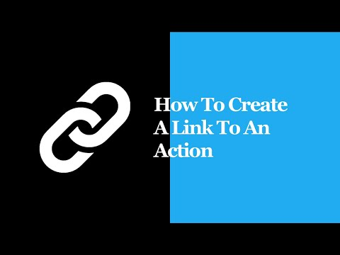 How To Create A Link To An Action