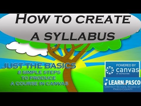 8 How to create a syllabus in Canvas