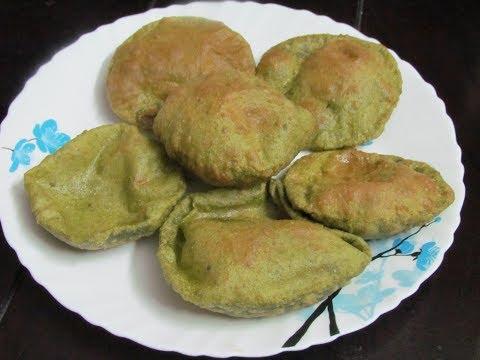 Palak Puri Recipe | पालक की पूरी | Spinach Puri