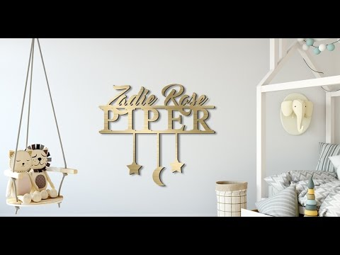 Personalized sign for baby nursery & toddler room