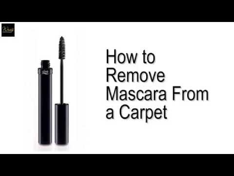 How to remove mascara from a carpet.