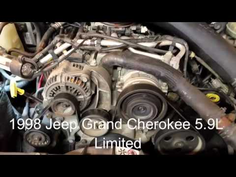 1998 Jeep Grand Cherokee 5.9 SIMPLE Belt Removal and Replacement