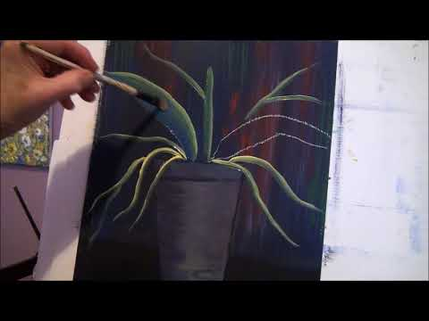 Use this simple TRICK to make leaves for flowers, acrylic paint for beginners  lesson 2