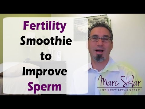 Get Pregnant with this Fertility Smoothie. Improve Sperm