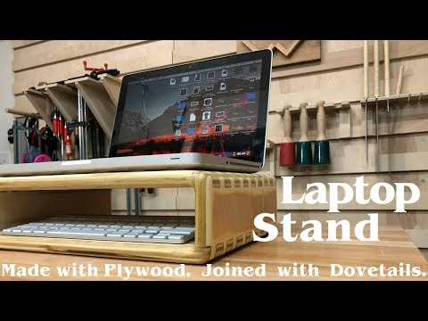 Making a Laptop Stand using Dovetails How to Build | Woodworking Electronics