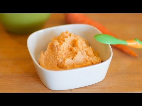 Chicken Carrot puree - baby food recipe +6M
