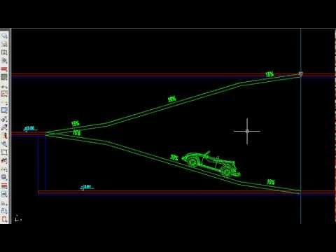 How to design and draw parkin-ramps in AutoCAD with APLUS plug-in.