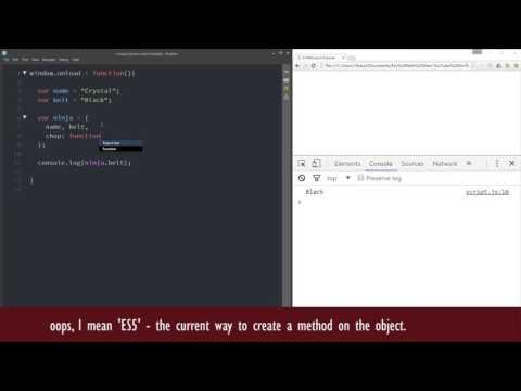 JavaScript ES6 Tutorial #8 - Object Literal Enhancements