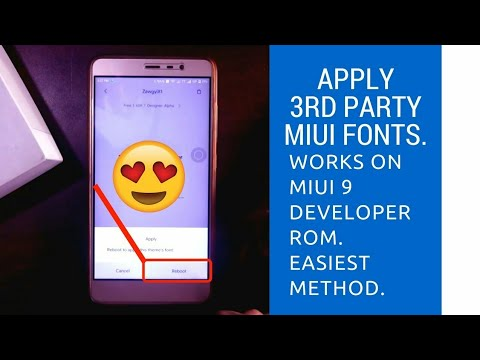 How to apply 3rd party fonts in MIUI 9. || Works on beta/ developer ROM 😍|| 2018