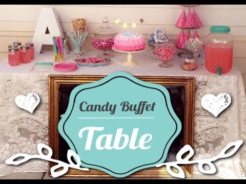 Candy Buffet Table (pastel colors)