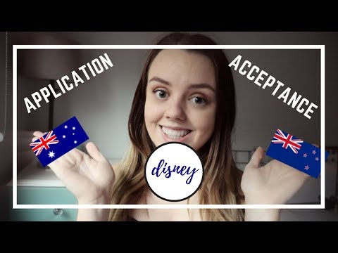 Disney Cultural Exchange Program || Australian and New Zealand Application/Acceptance process