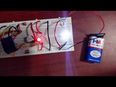 IR-PHOTODIODE BASED SECURITY ALARM SYSTEM