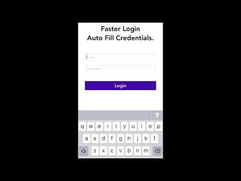 Autofill password ios 11