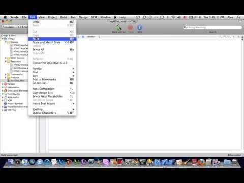 Xcode Tutorial Adding HTML
