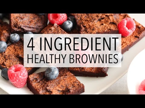4 INGREDIENT HEALTHY CHOCOLATE BROWNIES | Easy Brownie Recipe!