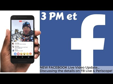 Discussing FB Live Update & Periscope Comparisons! #ThinkLikeAFan