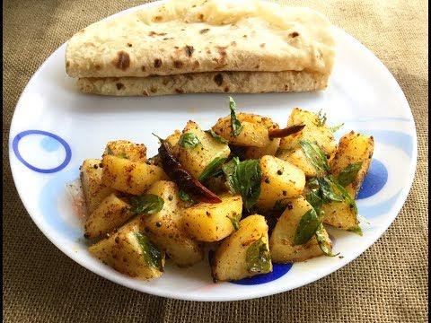 South Indian Style Aloo Sabji Indian Tarka (Bengali Style) | Dry White Potato Recipe #337