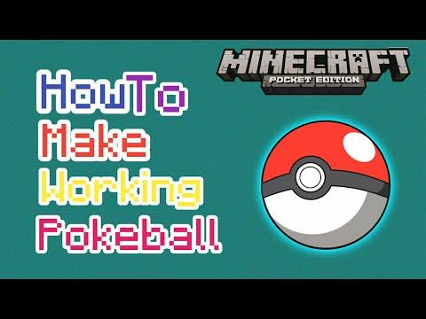 How To Make Working Pokeball | Minecraft Pe | Tutorial