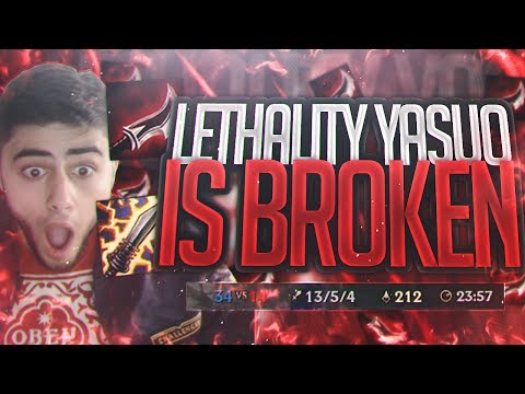 Yassuo | LETHALITY YASUO IS BROKEN?!? NEW YASUO BUILD?!?