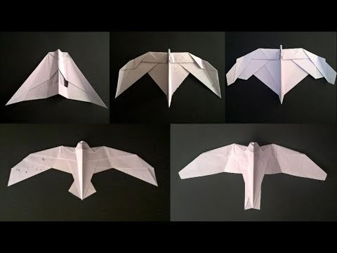 bionic paper airplane series start – easy, good flying paper airplane – model s – pure origami
