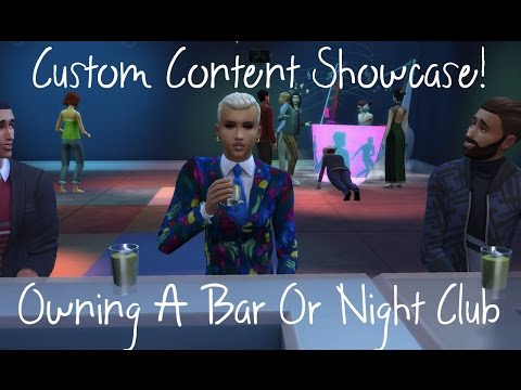 Sims 4 Custom Content Creator Showcase: OWN YOUR OWN BAR/NIGHTCLUB!
