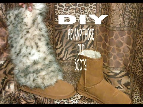 HOW TO MAKE FUR BOOTS!  (DIY)