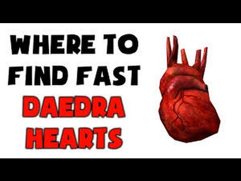 Skyrim Where to Daedra Hearts two Locations