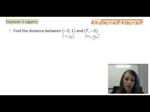 4: Finding the Distance Between two Points Using the Distance Formula