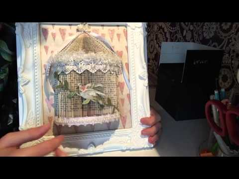 Book folding bird cage // SOLD