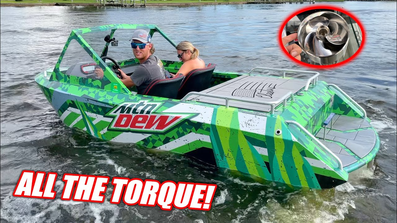 We Modified Our Supercharged Mini Jet Boats and They Freaking FLY!!! (Massive Jet Roost)