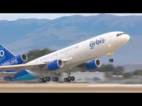 ORBIS Flying Eye Hospital N330AU Departing Moffett Field