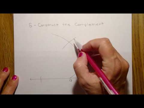 How to construct a complementary angle